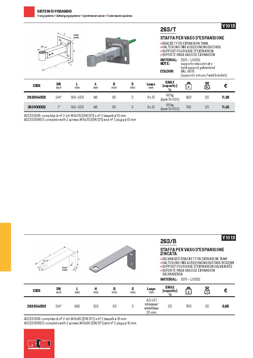 Wider range of fastening systems