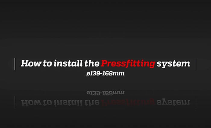 How to install the new pressfitting range Oversize!