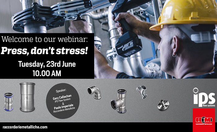 Press, don't stress! Welcome to our webinar on 23rd June.