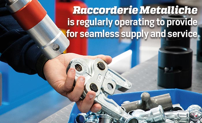 Raccorderie Metalliche is regularly operating